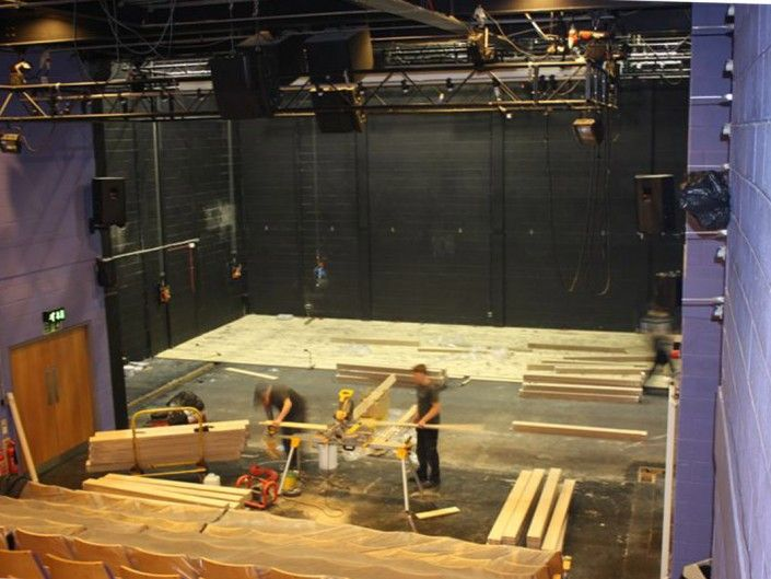 Sprung Stage Floor at Edge Hill University (Installation)