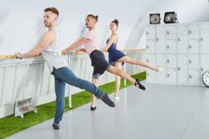 Grey vinyl dance floor