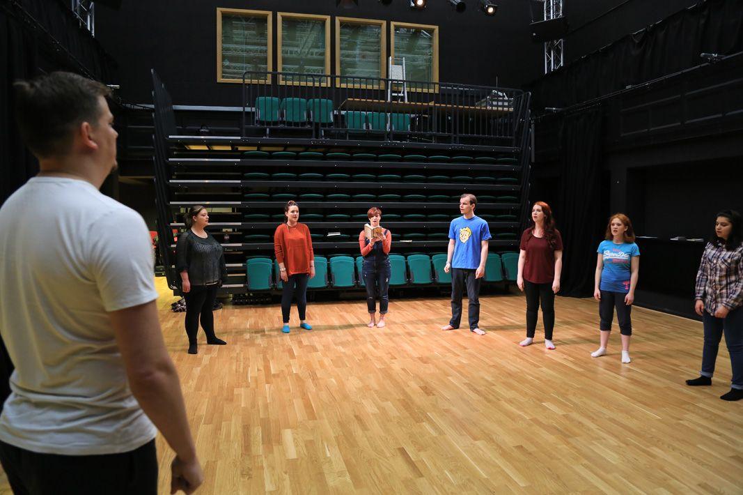 Woodland Sprung Dance Floor at Huddersfield University - Image copyright GJ