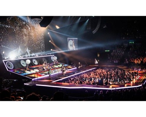 Custom Printed Floor for McBusted UK 2015 Tour
