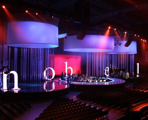 StudioTak™ High Gloss Black on stage at the Nobel Peace Prize